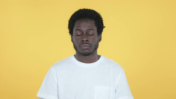 Thumbnail for Sleeping African Man, Yellow Background