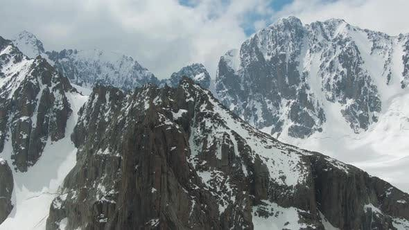 Thumbnail for Tian Shan Snow-Capped Mountains. Aerial View