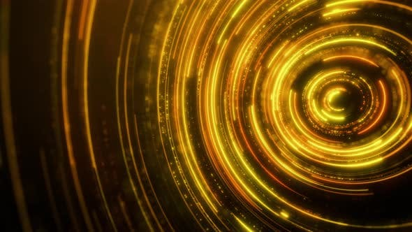 Thumbnail for Gold Rounds Light Effect for Background