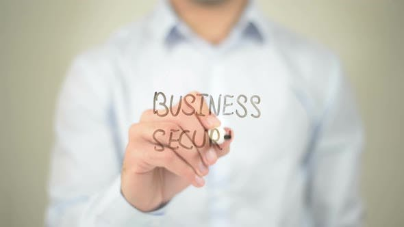 Thumbnail for Business Security, Businessman Writing on Transparent Screen