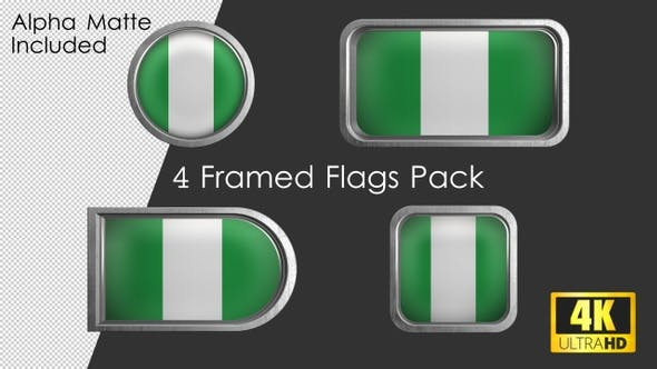 Thumbnail for Framed Nigeria Flag Pack