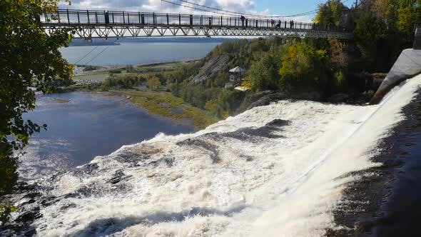 Thumbnail for Showing Bridge Above The Montmorency Waterfalls In Quebec City