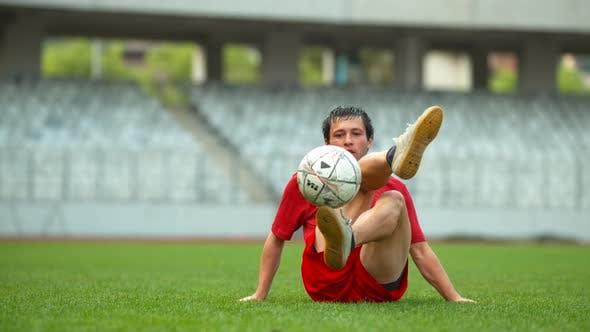 Thumbnail for Football player improving dribbling skills, Ultra Slow Motion