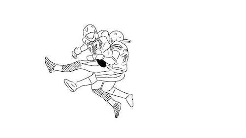 Joueurs de football dessinés à la main