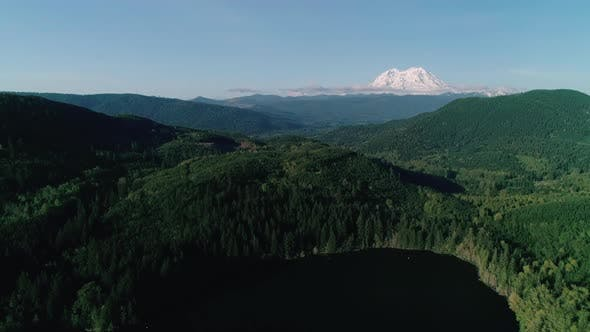 Thumbnail for Washington Green Forest Aerial Mt Rainier Background