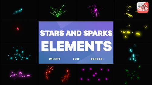 Stars And Sparks Pack | Motion Graphics