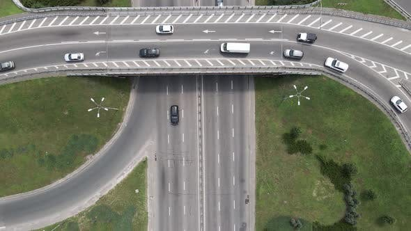 Thumbnail for Cars on the Road Aerial View. Kyiv, Ukraine