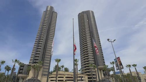 Two modern high rise condo towers