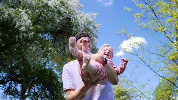 Thumbnail for Happy Father And His Baby.