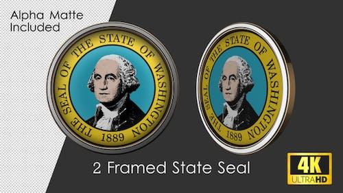 Framed Seal Of Washington State