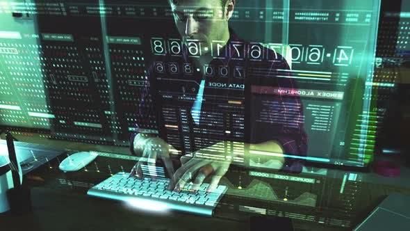Computer-Hacker für Cyberkriminalität