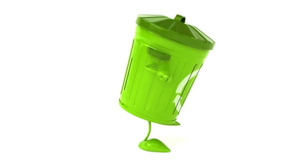 Cover Image for Fun green trash character