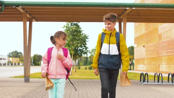Thumbnail for Children with Backpacks Going To School