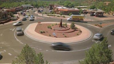 Traffic Roundabout Timelapse