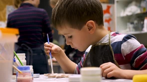 Leisure Activity for Preschooler. Art Workshop Background. Developing Creativity, Montessori Concept