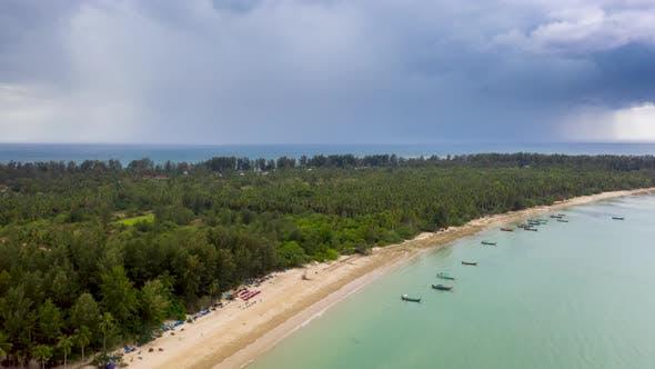 Thumbnail for Aerial Hyperlapse of a Thunder Storm off a Tropical Beach