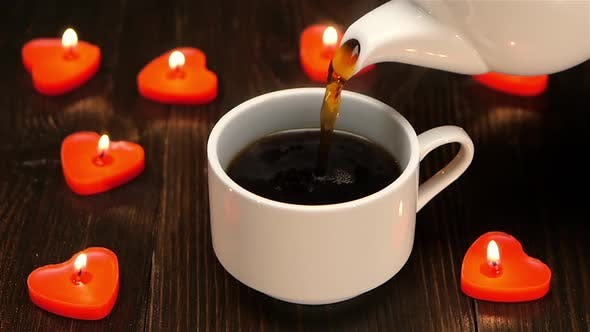 Delicious Aromatic Coffee at the Breakfast for a Loved One