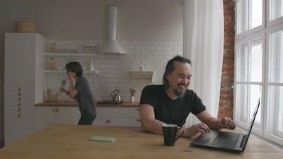 Happy Freelancer Couple