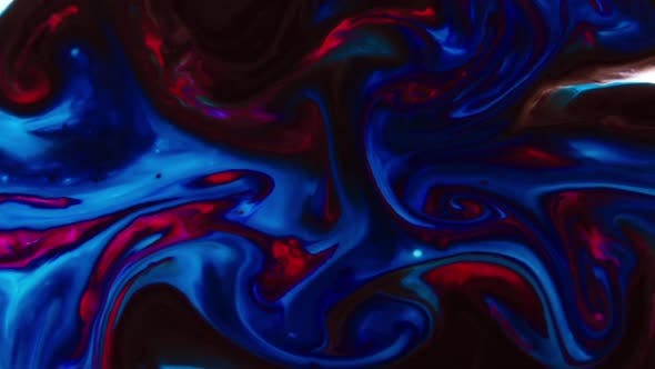 Thumbnail for Abstract Spreading Paint Swirling And Explosion Background 17