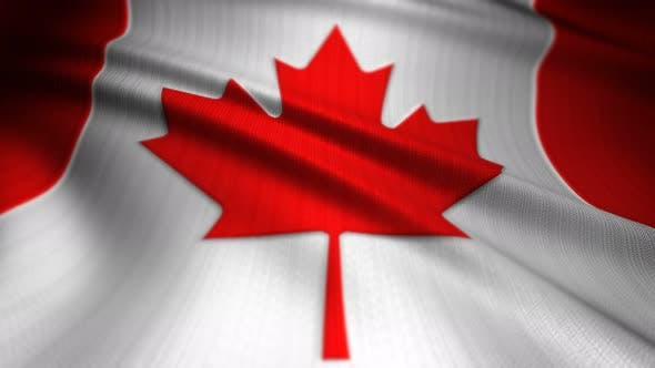 Thumbnail for Canada Flag Seamless Loop