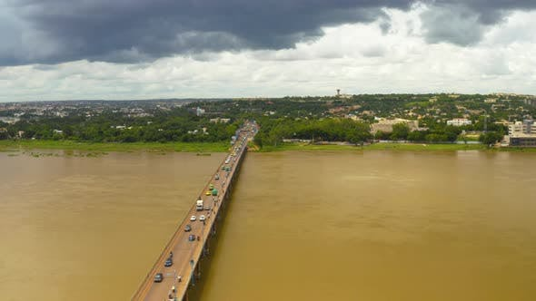 Thumbnail for Africa Mali City And River Aerial View