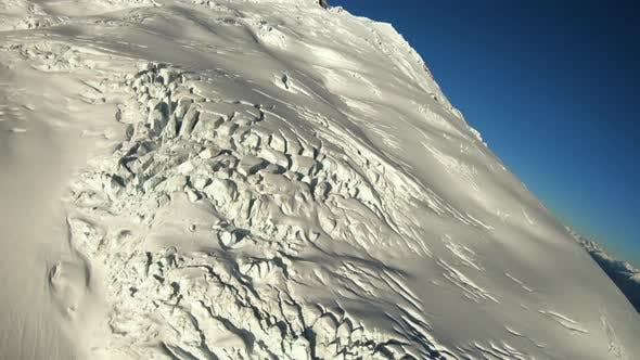 Thumbnail for Frozen Glacier Tundra Crevasse View Flying Over In Helicopter