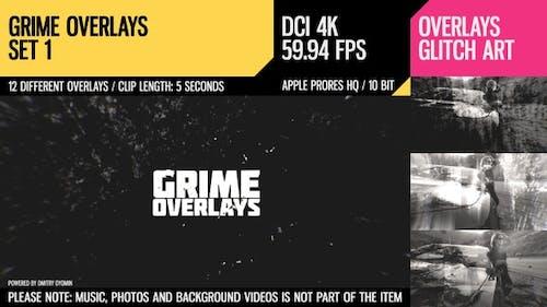 Grime Overlays (4K Set 1)