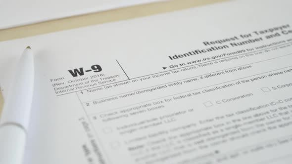 Thumbnail for IRS W-9 Tax Form