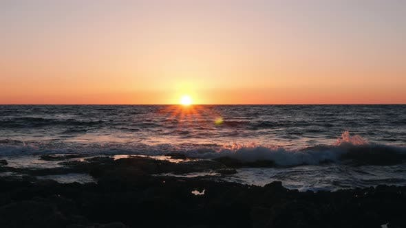 Thumbnail for Beautiful sea at sunset