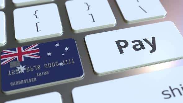 Thumbnail for Bank Card Featuring Flag of Australia As a Key on a Keyboard