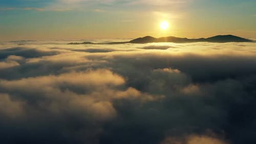 Sun Cloud Nature Sunset Fog Sky Fly Air Magic Atmosphere Drone Horizon
