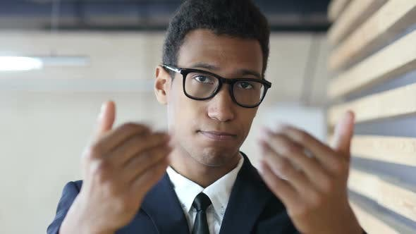 Thumbnail for Inviting for Start Up, Offering Gesture by Black Businessman in Suit