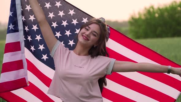 Thumbnail for Teenager Girl with Usa Flag