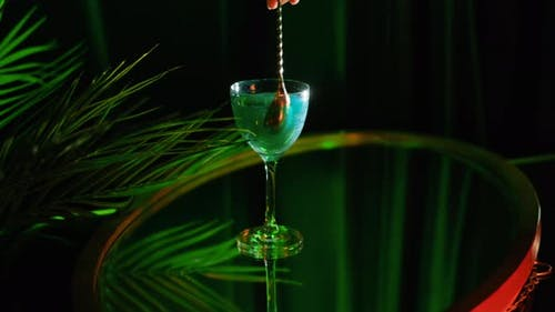 Coctail in green colors