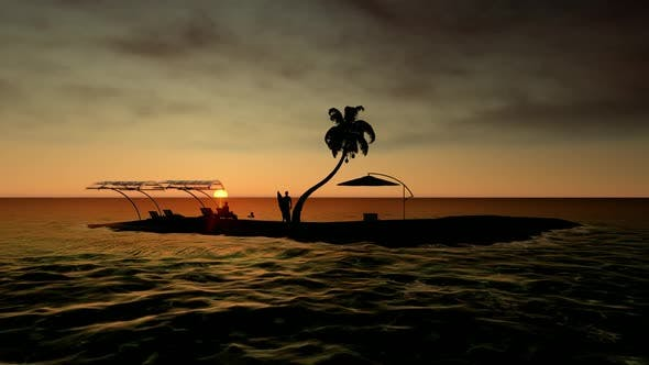 Thumbnail for Palm Island at Sunset
