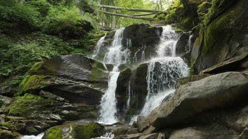 Carpatian Waterfall Shypit, Pylypets, Ukraine