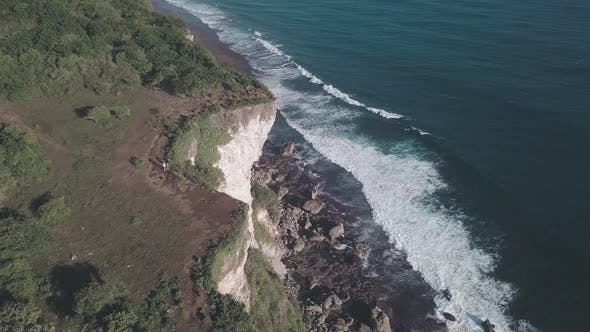 Aerial Drone Footage of the Karang Boma Cliff in Bali