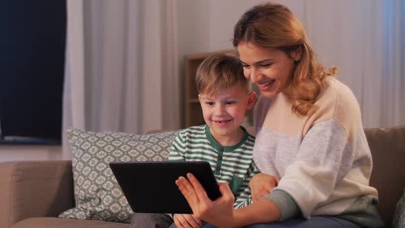 Thumbnail for Mother and Son with Tablet Pc Having Video Call