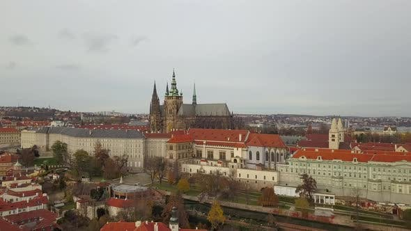 Thumbnail for Aerial Panoramic View From the Air To St. Vitus Cathedral in Prague