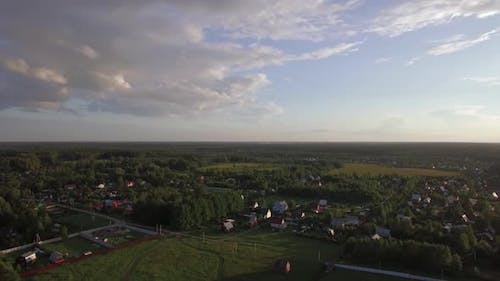 Russian Countryside in Summer, Aerial View