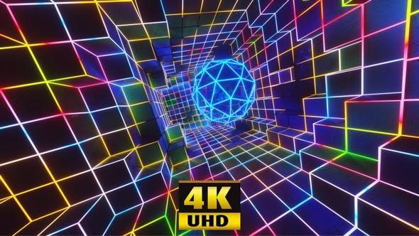 Vj Loop Neon Hole 4K