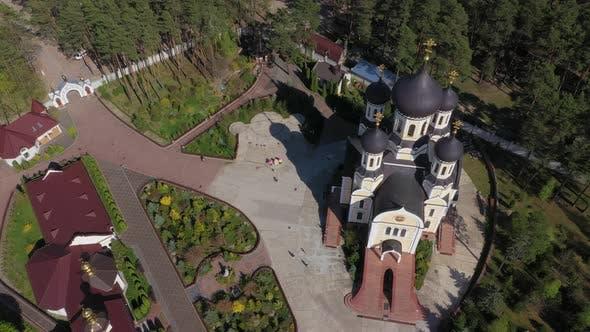 Aerial View Territory Zhytomyr St. Anastasievsky Monastery