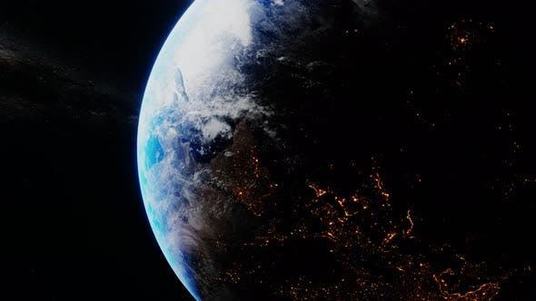 Thumbnail for Erde dreht sich langsam im Raum
