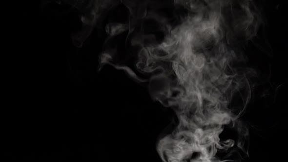 Thumbnail for Smoke Clouds Fog Overlay Perfect Black Background. Slow Motion