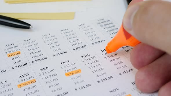 Home Budget Planning Sheet with Marker Pen