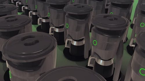 A Lot Of Filter Coffee Machines In A Row 4k