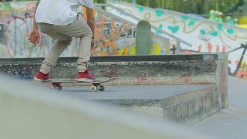 Skater doing a flip jump