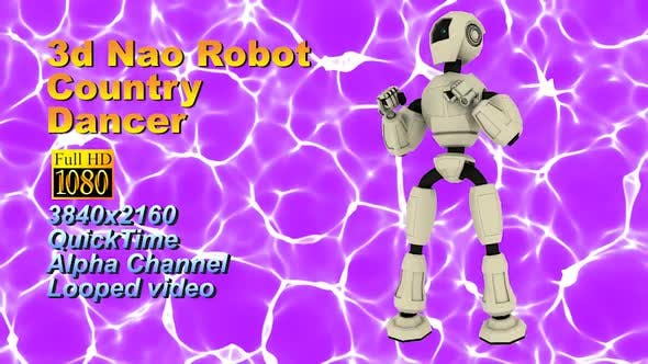 Thumbnail for 3D Neo Roboter Humanoid Chromakey