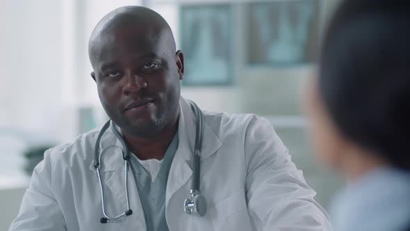 Thumbnail for African American Physician Smiling At Camera