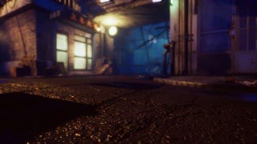Les lumières de Bokeh sur la rue nocturne en Asie